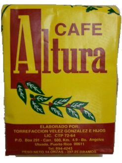 Cafe Altura, Altura Coffee from Puerto Rico