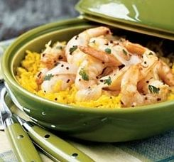 Arroz Amarillo<br>Yellow Rice and Shrimp