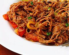 Recipe Ropa Vieja<br>Cuban Meat Stew Puerto Rico