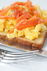 Scramble Eggs<br>and Salmon
