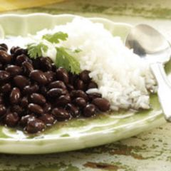 Black Beans<br>& White Rice