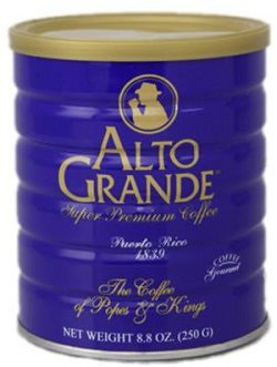 Cafe Alto Grande in a Can, Puerto Rican Coffee Puerto Rico