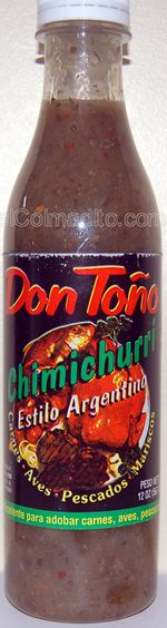 Chimichurri Don Toño, Argentina 's sauce for Meat at elColmadito.com Puerto Rico