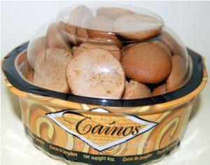 Taino Mini Cucas Jengibre envase 5onzDulces y Galletas Tipicas de PR