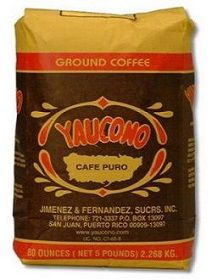 Yaucono Coffee from Puerto Rico in Grains, Yaucono Coffee in Whole Beans Puerto Rico