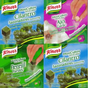 Dulces Tipicos Knorr Mini Cubos, Knorr Seasoning, Adobos Knorr Puerto Rico
