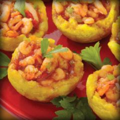 Recipe Stuffed Tostones<br>with Shrimp  Puerto Rico