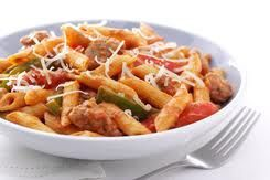 Pasta with<br>Sausage and Peppers