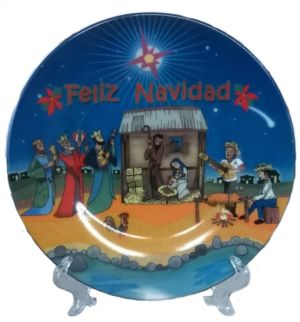 christmas theme decorative plates - Puerto Rican Christmas Decorations